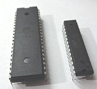 Microcontroller - Two ATmega microcontrollers