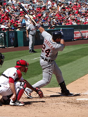 Description de l'image  Miguel Cabrera batting against Angels (2012-09-09).JPG.