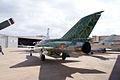 Mikoyan-Gurevich MiG-21US Mongol-B LSideRear CFM 7Oct2011 (15302121356).jpg
