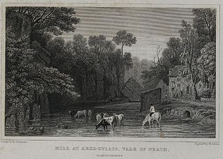 Mill at Aber-Dylais, vale of Neath, Glamorganshire