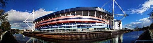 Millennium Stadium exterior panorama