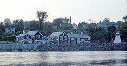 Ritchie Wharf on the Newcastle waterfront in the City of Miramichi.