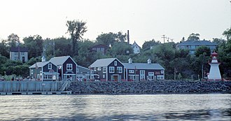 Miramichi, New Brunswick - Ritchie Wharf on the Newcastle waterfront in the City of Miramichi.