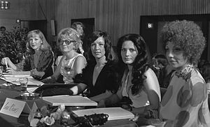 Beauty pageant - The panel of judges for the 1973 Miss Amsterdam pageant