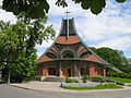Moderní kostel Povýšení sv. Kříže v Chuchelné, České republice.jpg