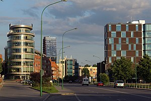 Modern buildings in Klaipeda