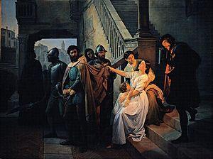 Filippo Calendario - The Arrest of Filippo Calendario, by Pompeo Marino Molmenti