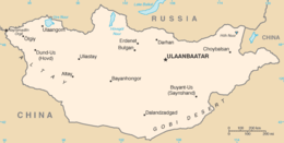 Mongolia - Mappa