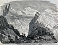 Mont Blanc; travellers outside the cabin on the Grands Mulet Wellcome V0025167.jpg