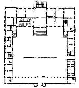 Montagu House - plan from Vitruvius Britannicus
