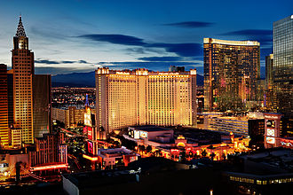 Monte Carlo Resort and Casino - Image: Monte Carlo Exterior Sunset