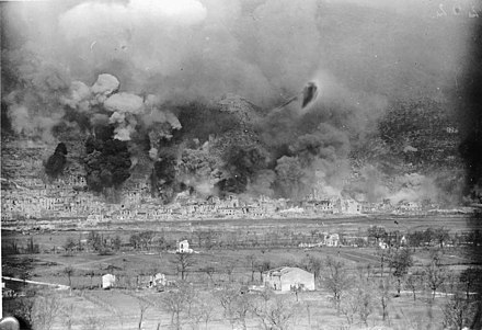 Bombing of 15 March Monte Cassino bombing.jpg