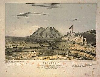 Battle of Monterrey - Image: Monterrey 1847 litografía de F. Swinton