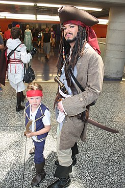 Montreal Comiccon 2015 - Jack Sparrow and Jake of the Neverland Pirates (18857758023).jpg