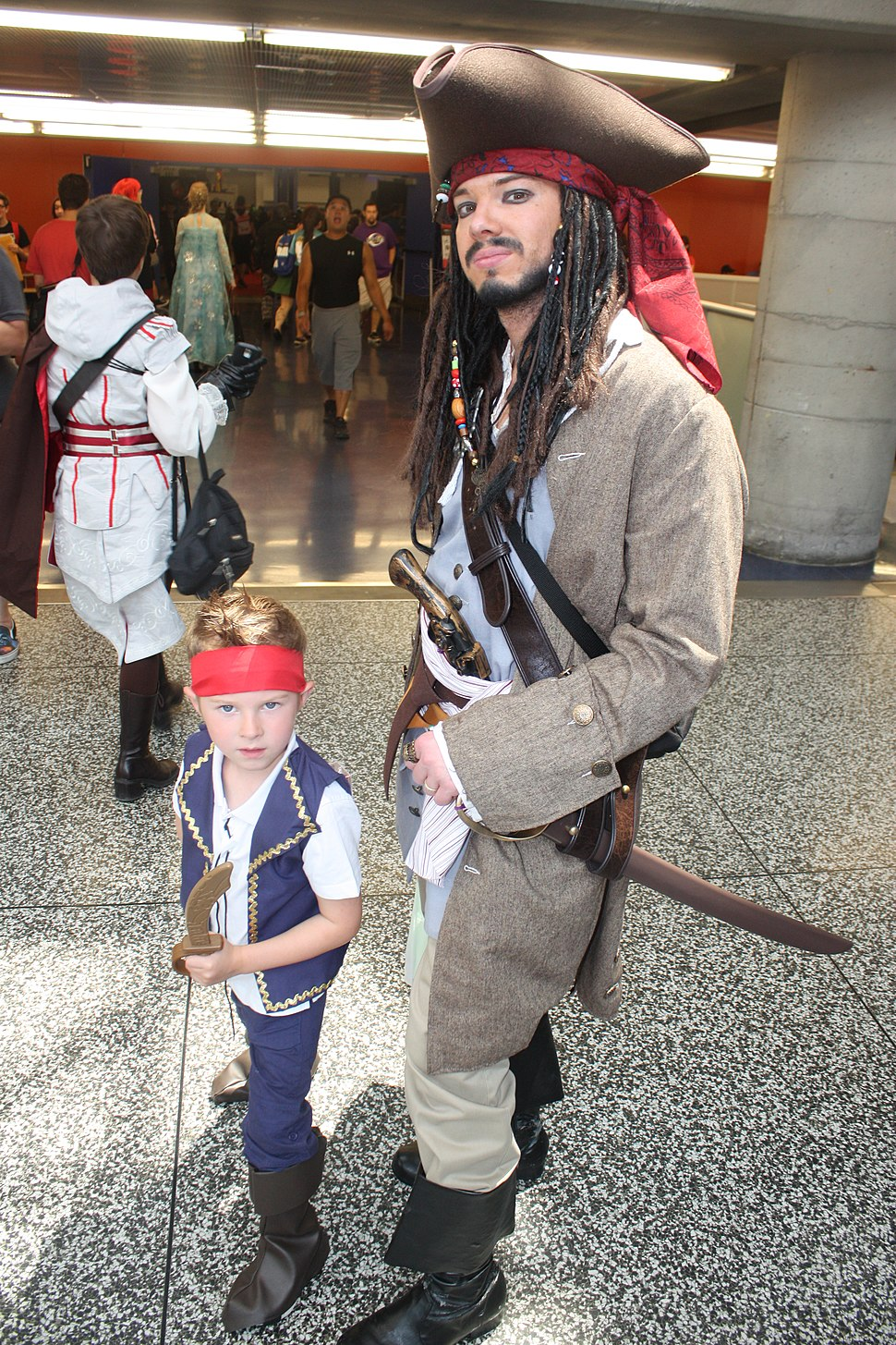 Montreal Comiccon 2015 - Jack Sparrow and Jake of the Neverland Pirates (18857758023)