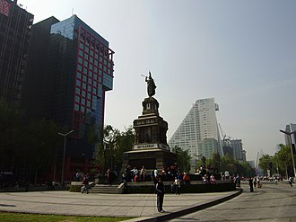 Monument to Cuauhtémoc - Image: Monumento Cuauhtemoc Paseo Reforma 1