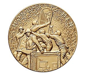 Monuments, Fine Arts, and Archives program - Monuments Men Congressional Gold Medal, presented 9 June 2014.