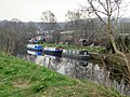 Moorings on the canal at Fir Cottage, Shepley Bridge, Ravensthorpe. - geograph.org.uk - 362112.jpg