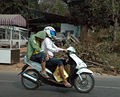 Moped with Sleeping Passenger - Bang Sean Thailand.jpg
