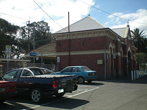 Moreland railway station - Station front in October 2008