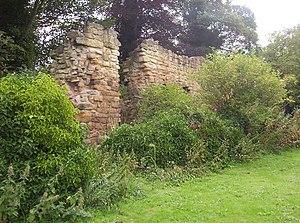 Morpeth Castle - Morpeth Castle walls