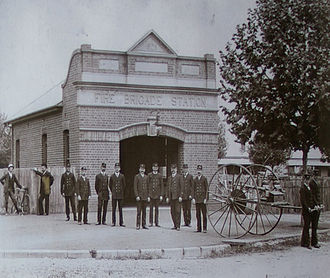 Wagga Wagga - Wagga Wagga Fire Station (C. 1903) on Morrow Street in 1912