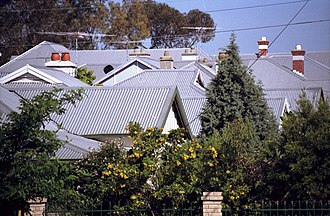 Corrugated galvanised iron - Corrugated galvanised iron roofing in Mount Lawley, Western Australia
