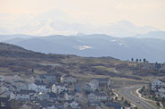 Mount Evans as seen from Castle Rock CO