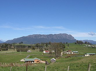 Sheffield, Tasmania - Mount Roland from lookout at Sheffield