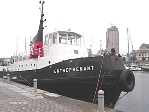 Entreprenant in Dunkirk Port Museum