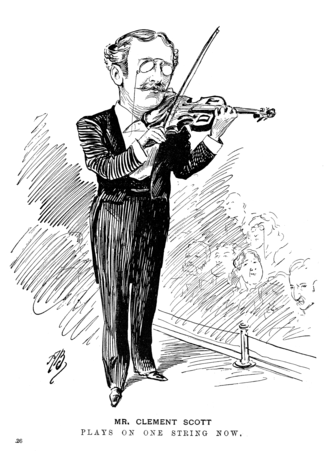 Clement Scott - Scott playing the Daily Telegraph violin (1897)