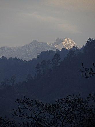 Kedarnath (mountain) - The first rays of sunlight falling on Mt. Kedarnath.