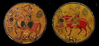 Ganjifa - Mughal Ganjifa Playing Cards, Early 19th century, courtesy of the Wovensouls collection