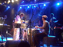 The Heliocentrics performing with Mulatu Astatke at Circolo degli Artisti in Rome, Italy in March 2009