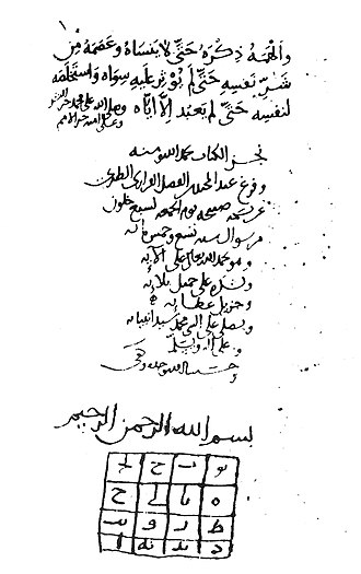 "Conscience - Last page of Ghazali's autobiography in MS Istanbul, Shehid Ali Pasha 1712, dated A.H. 509 = 1115–1116. Ghazali's crisis of epistemological skepticism was resolved by ""a light which God Most High cast into my breast ... the key to most knowledge."""