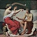 Musée d'art et d'archéologie du Périgord - Auguste Alexandre Hirsch - Calliope enseignant la musique à Orphée.jpg