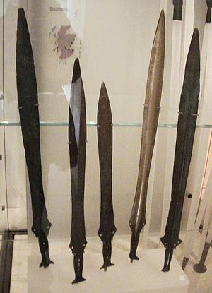 Prehistoric warfare - Bronze swords from the Museum of Scotland.