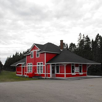 Musquodoboit Harbour, Nova Scotia - The local railway station is now a museum
