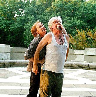 Hudson Warehouse - Myles Rowland as James Tyrrel and R. Scott Williams as George, Duke of Clarence, Richard III, 2012 Season.