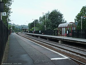 Mytholmroyd railway station - Platform 1 at Mytholmroyd
