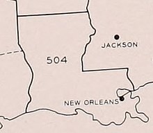 Area code 504 - Wikipedia Zip Code Map Of Southern Louisiana on zip code map of southern utah, zip code map of southern illinois, zip code map of southern indiana, zip code map of southern california, zip code map of southern maryland, zip code map of southern arizona, zip code map of southern ohio,