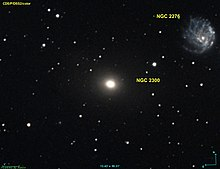 NGC 2300 next to nearby galaxy NGC 2276