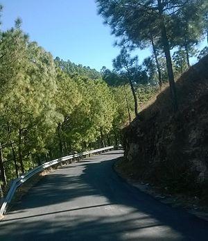 Kanda, Uttarakhand - NH 309A near Kanda