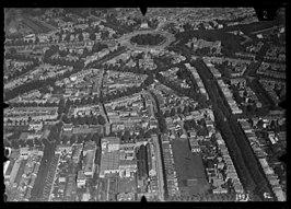 Bottendaal, Nijmegen, op een luchtfoto van de NIMH van vóór de Tweede Wereldoorlog