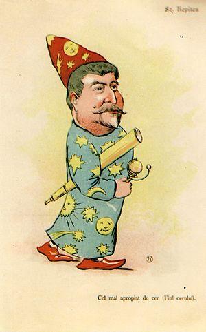 Ștefan C. Hepites - Hepites in an 1898 caricature