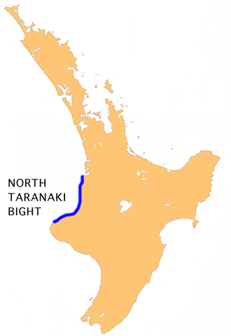North Taranaki Bight - Location of North Taranaki Bight