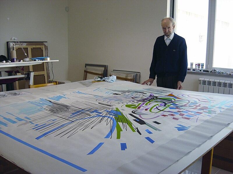 Ficheiro:Nadir Afonso and his art.jpg