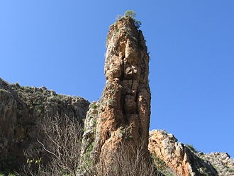 Nahal Amud - The namesake pillar of Nahal Amud