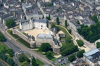 Château des ducs de Bretagne - The château seen from the air