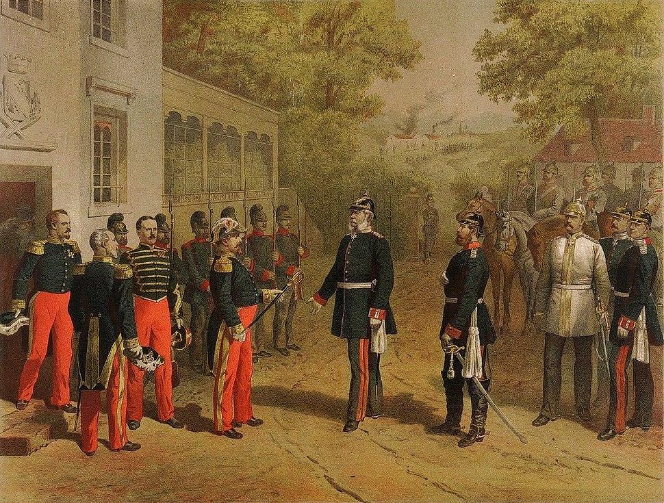 Napoleon übergibt seinen Degen